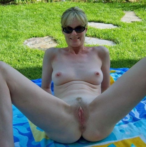 Britney a beautyful granny offering her hot old hole to dump cum inside