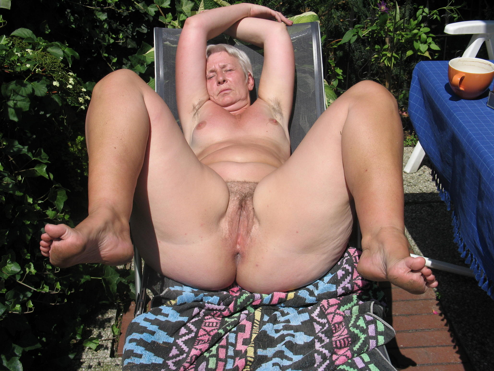 lusty granny is daydreaming about to have