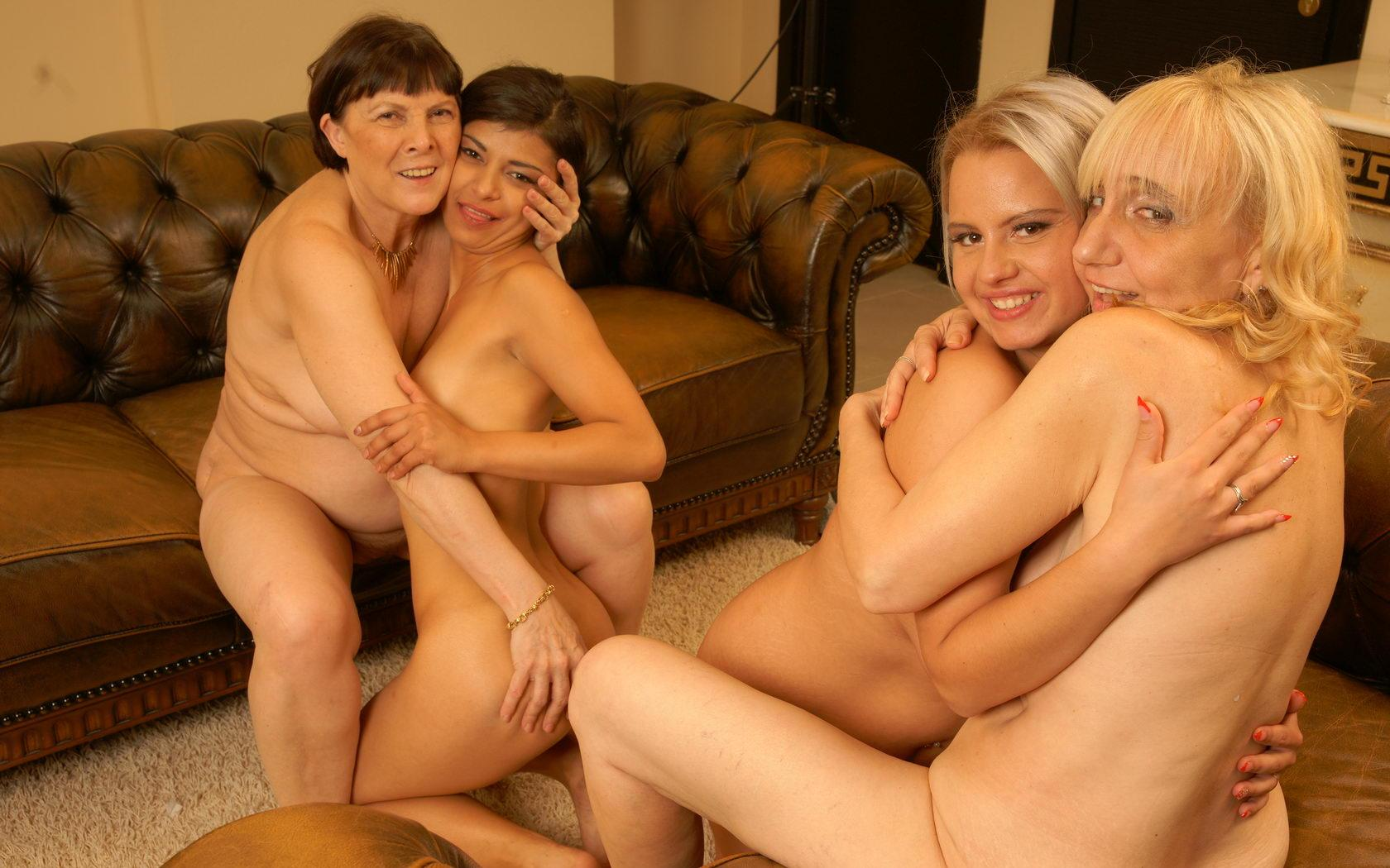 Nancy a horny granny seducing young girls for her lesbian granny pussy pleasure