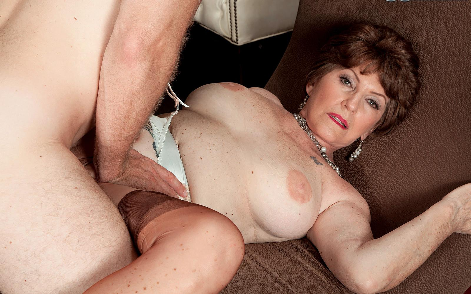 Maya a horny granny getting double plugged in her granny ass and pussy
