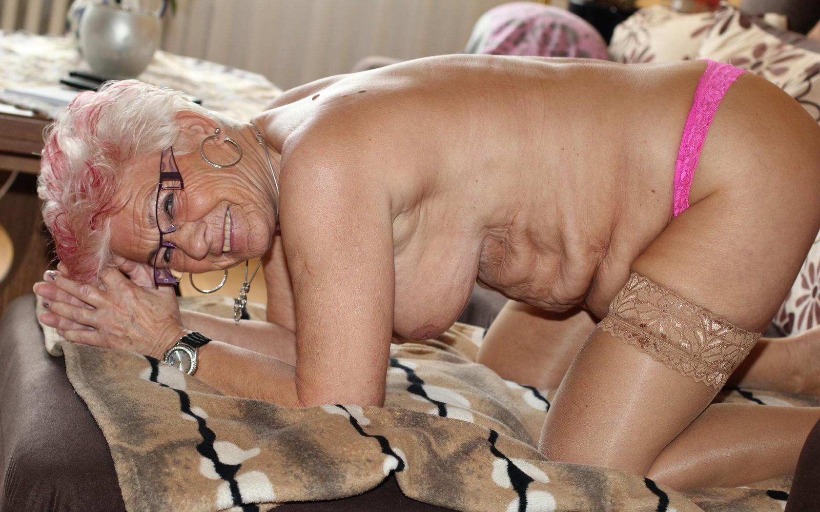 lusty granny thinks all the day about with a nice upskirt view