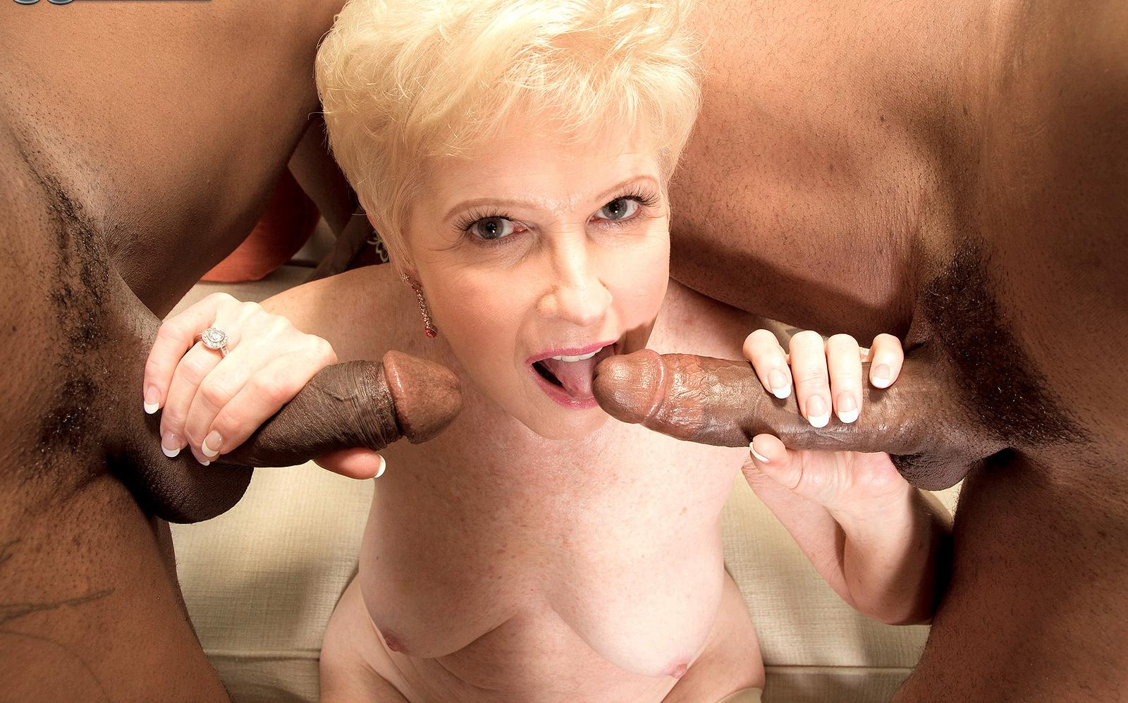 Kari a granny loves to do it with big black dicks