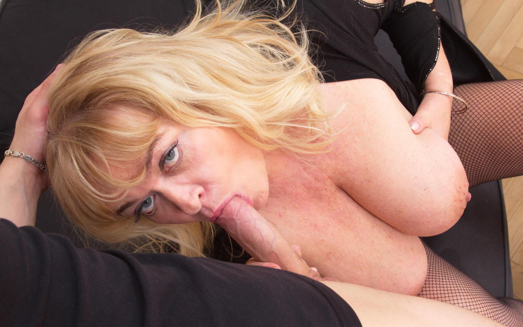 sweet granny mom likes to take it all over her kinky body