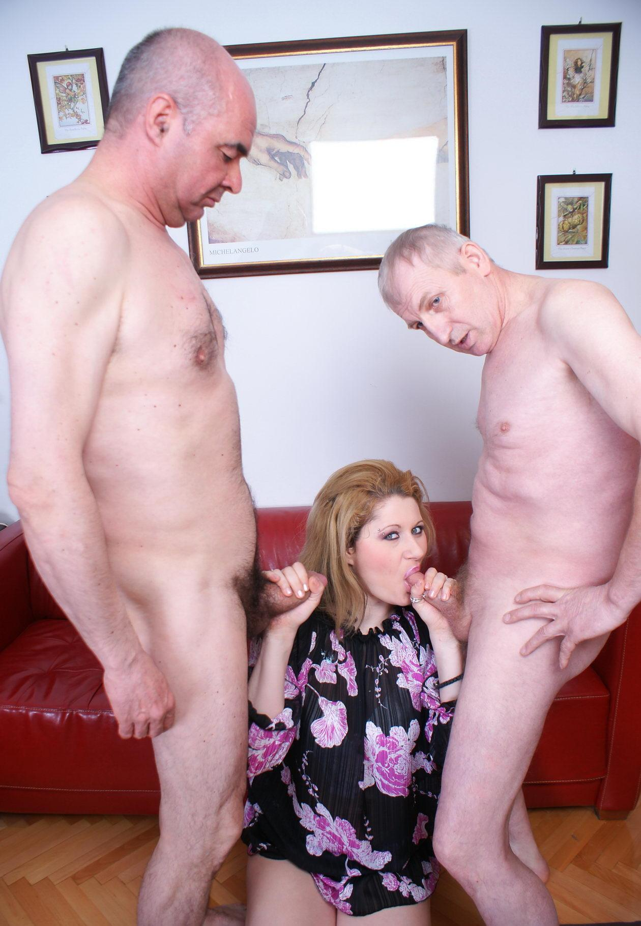 Camille a  sixty years old old adorable SEXY MOM gangbanged by two grandpas