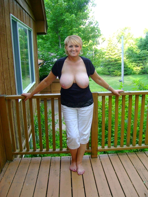 Tessa a 63 old charming BIG TITTED GRANNY a desirable d cup hottie