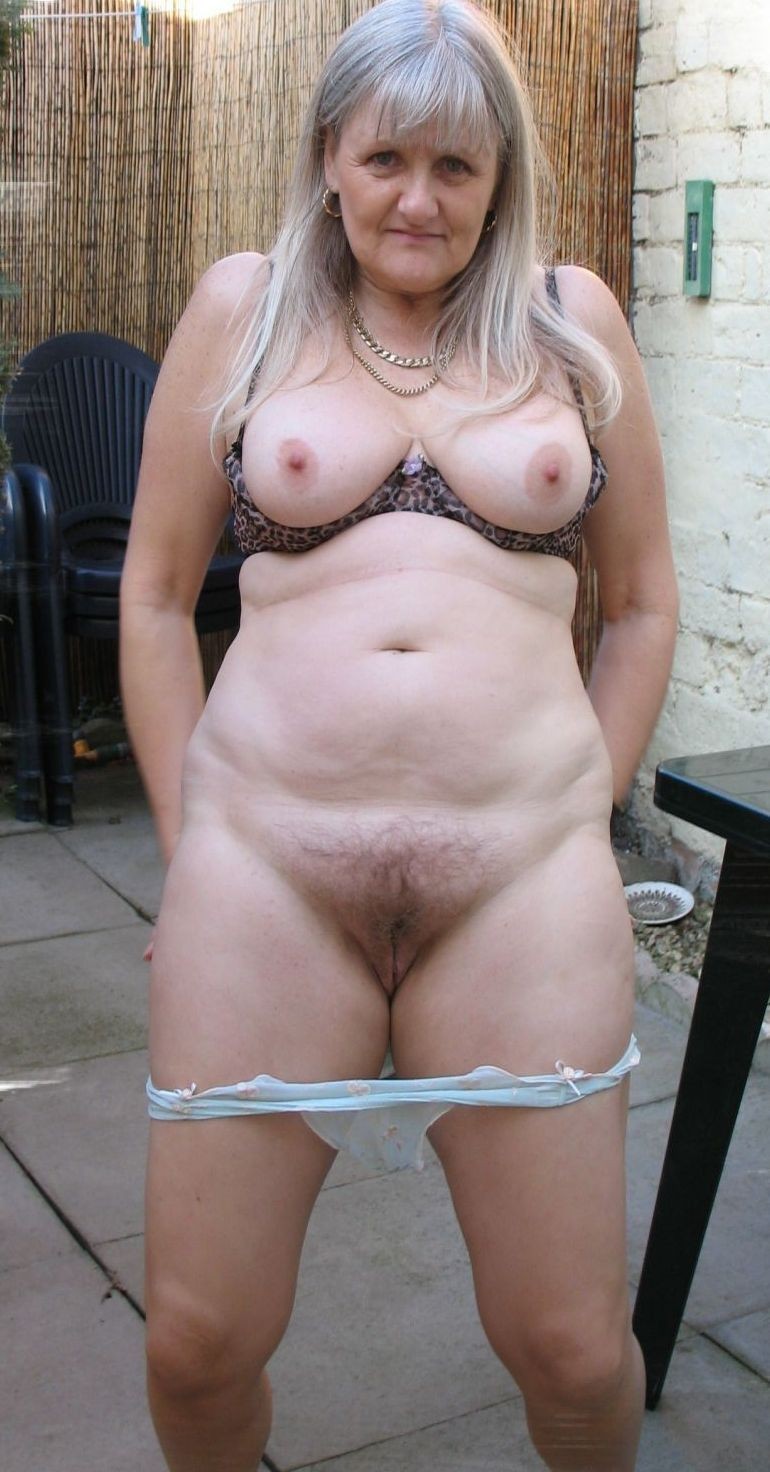Eva a 78 old perverted BBW GRANNY taking her panties down