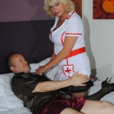 sexy old nurse takes care about a young patiens hard penis #9