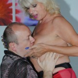 sexy old nurse takes care about a young patiens hard penis #2