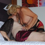sexy old nurse takes care about a young patiens hard penis #5