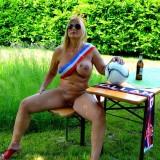 sexy german granny at a nudist camp #4