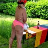 sexy german granny at a nudist camp #6