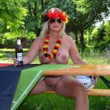 sexy german granny at a nudist camp #8
