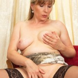 lustfull granny cheating with a dildo #1