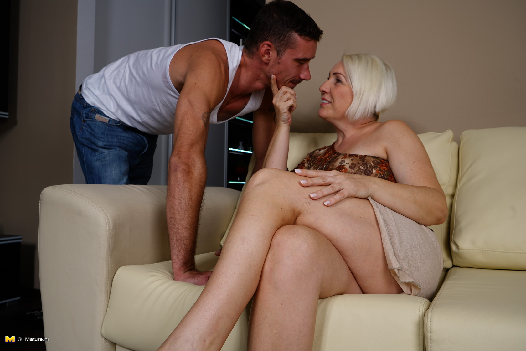 anonymous granny dating ending up in sexual intercourse with young guy who is eating granny out