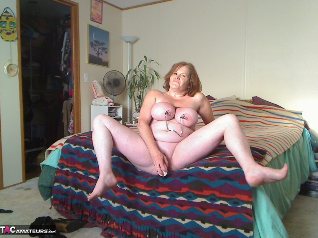 canadian mature bounded her cute granny boobies