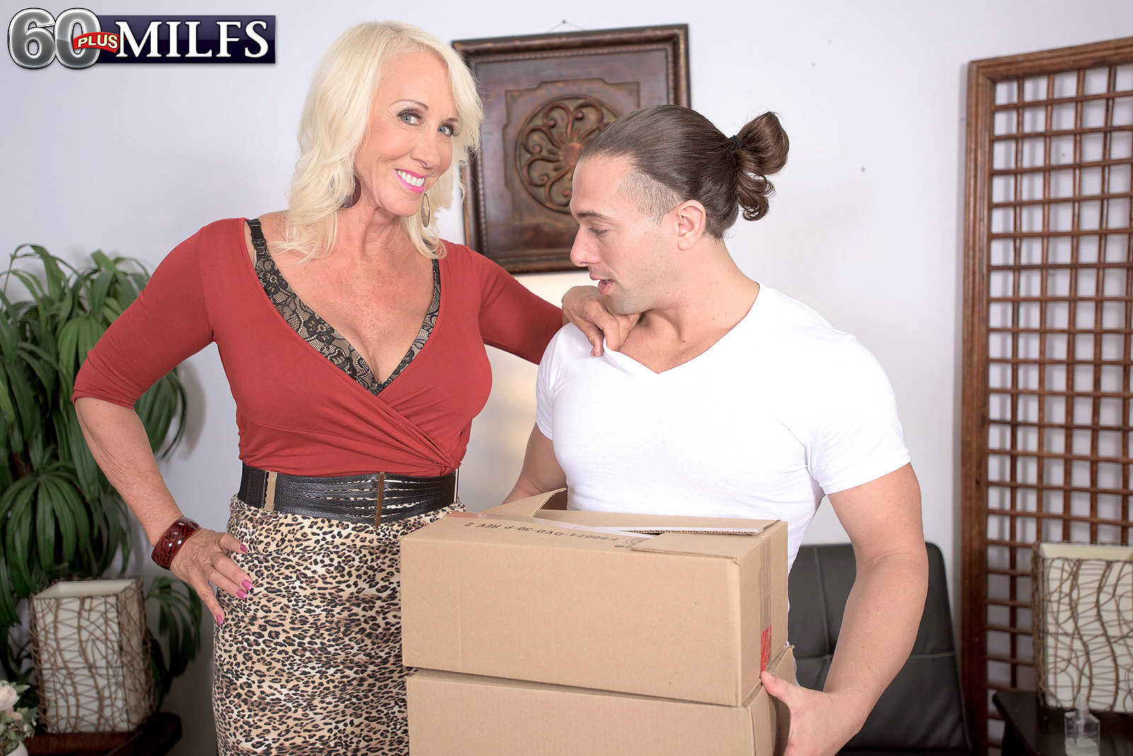 old dominating lady abusing the prime delivery service #1