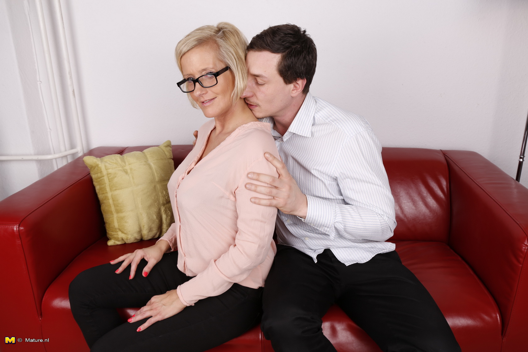 hot uptight granny gets her well protected satch set off by her new young admirer