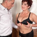 busty granny cougar Jessica hot gets her old body invaded