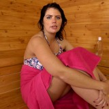hot mature wife invites her stepson inside the sauna for a common wank #14_thumb