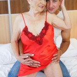 Granny Malya is intensive enjoying seeing her  vintage pussy fucked by Rob's young hard stick #8_thumb