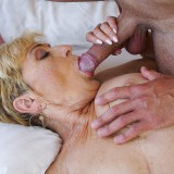 Granny Malya is intensive enjoying seeing her  vintage pussy fucked by Rob's young hard stick #2_thumb