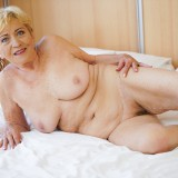Granny Malya is intensive enjoying seeing her  vintage pussy fucked by Rob's young hard stick #7_thumb