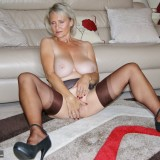 British swinger granny sugarbage fingering her ass and getting off at home #4_thumb