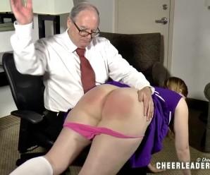 grandpa feels lustfull again when punishing his cheerleader granddaughter