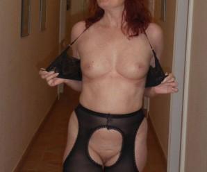 desperate redhead mature lonley in the big city flashing her beautiful cunt