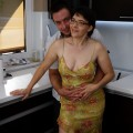 a well shaped aging auntie is more then happy to suck the penis of her young admirer