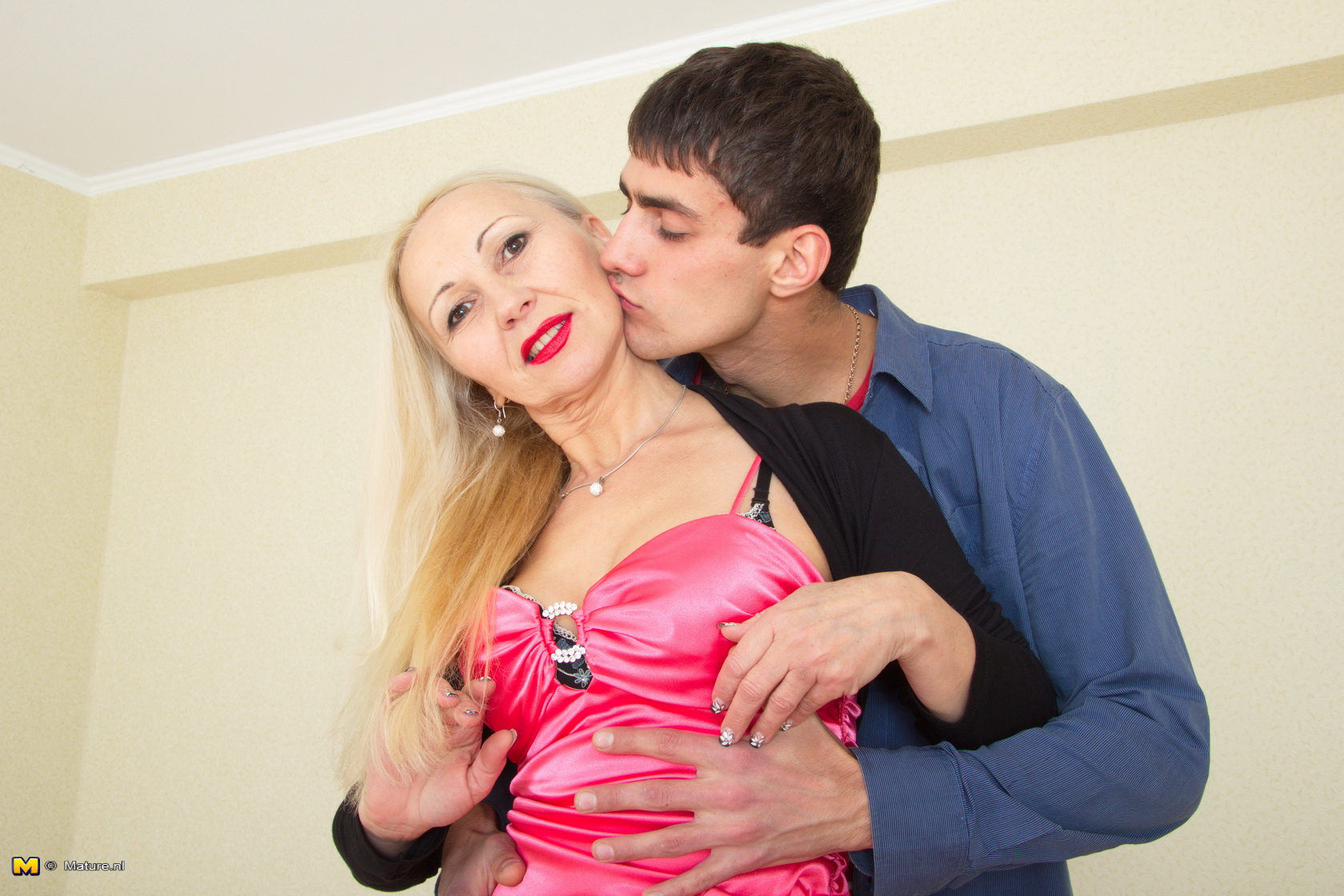his first pussy – grandmother helped him loosing his virginity #1