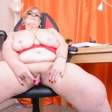 my busty ole office granny feels kinky today – bertha 59 begging for payroll raise #5_thumb