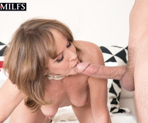 experienced sexy mature lady cyndi gives male virgin a good deepthroating lesson