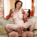 watch slender and tighty oma fucked hard and orgasming twice in a row
