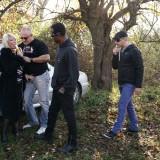 dogging granny invites a couple of random guys for a outdoors gangbang #8_thumb