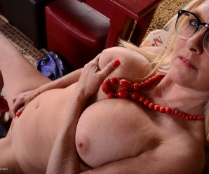kinky submissive old lady doesn't have a problem if a guy tackles her harder
