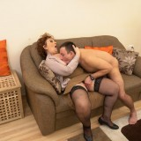 Old domineering grandmother deflowered inexperienced man and demands lots of kisses with tongue picture 15