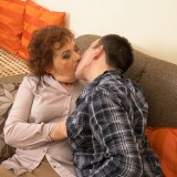 Old domineering grandmother deflowered inexperienced man and demands lots of kisses with tongue picture 10