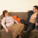 Old domineering grandmother deflowered inexperienced man and demands lots of kisses with tongue picture 11