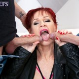 Caroline's pay-for-play DP session - Caroline Hamsel, Max Dyor, and Michael Fly (100 Photos) - 60 Plus MILFs picture 11