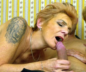 Granny shares her sugarboy with her best old friend.