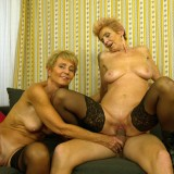 Granny shares her sugarboy with her best old friend. picture 9