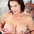 Vanessa Videl from 50plus milfs masturbating her tasty hole shortly after whe woke up