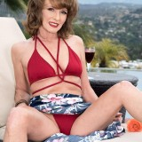 Poolside butt-plugging with Cyndi Sinclair - Cyndi Sinclair (91 Photos) - 50 Plus MILFs picture 5
