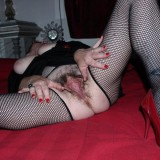 perverted french granny plays her huge hairy pussy with speculum picture 7