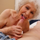 new shocking gallery from mature.nl - young romero diving deep inside grannys steaming old cunt picture 9
