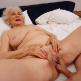 new shocking gallery from mature.nl - young romero diving deep inside grannys steaming old cunt picture 13