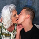 even if it might take a bit longer - 70years old granny will make this young guy cum hard and deep inside her old pussy picture 5