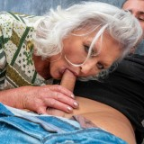 even if it might take a bit longer - 70years old granny will make this young guy cum hard and deep inside her old pussy picture 7