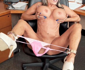 the horny granny secretary – Sally D'Angelo